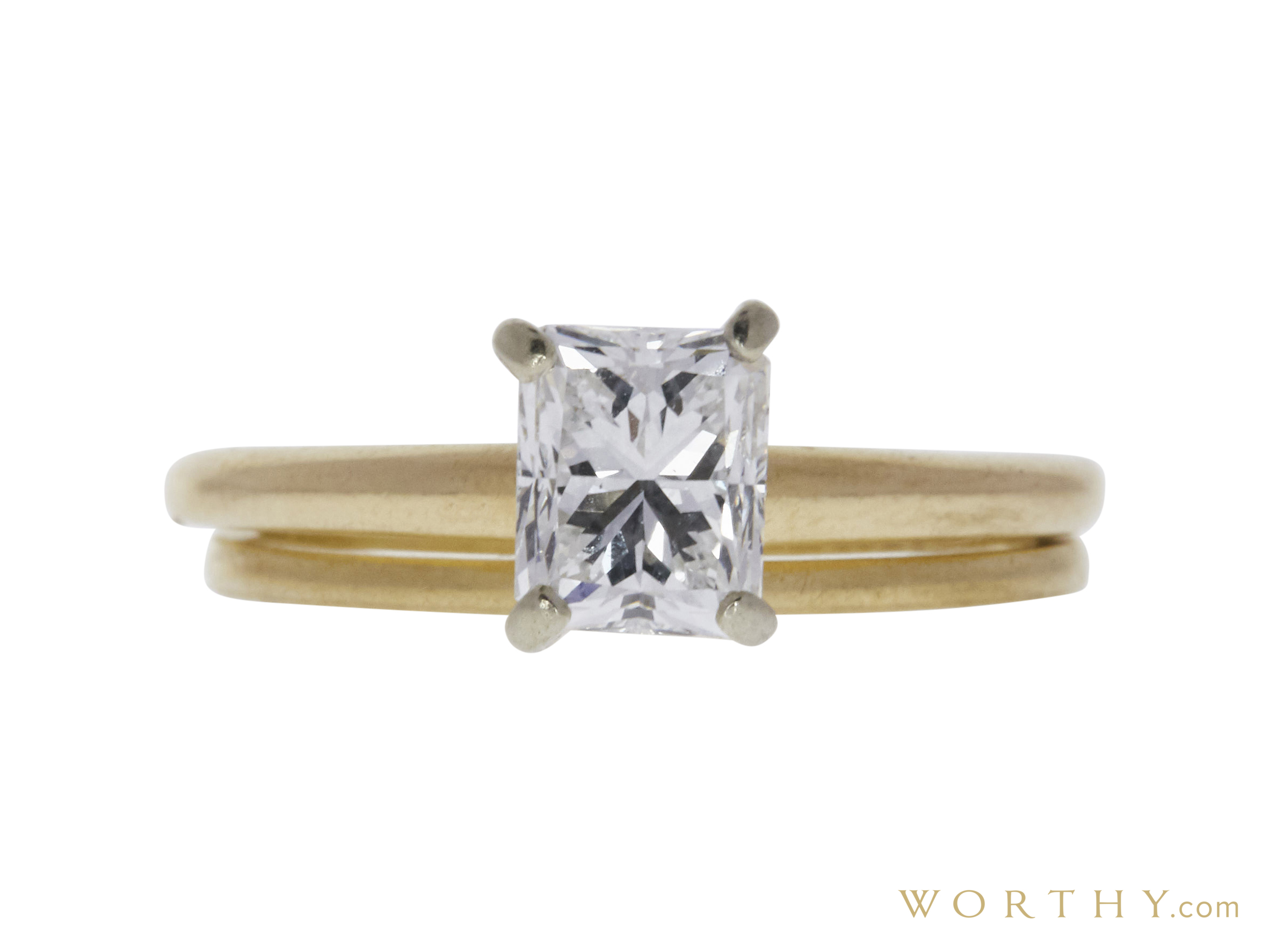 0.95 Ct. Radiant Cut Solitaire Ring