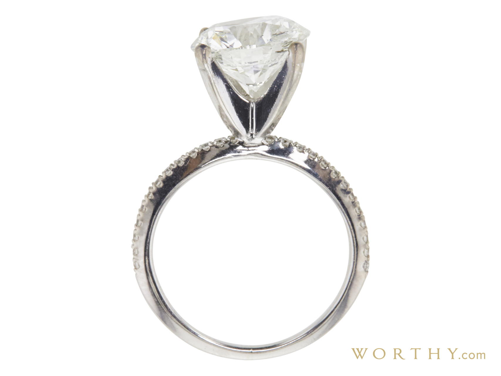 1.52 ct. Princess Cut Solitaire Ring | Sold For $4,688