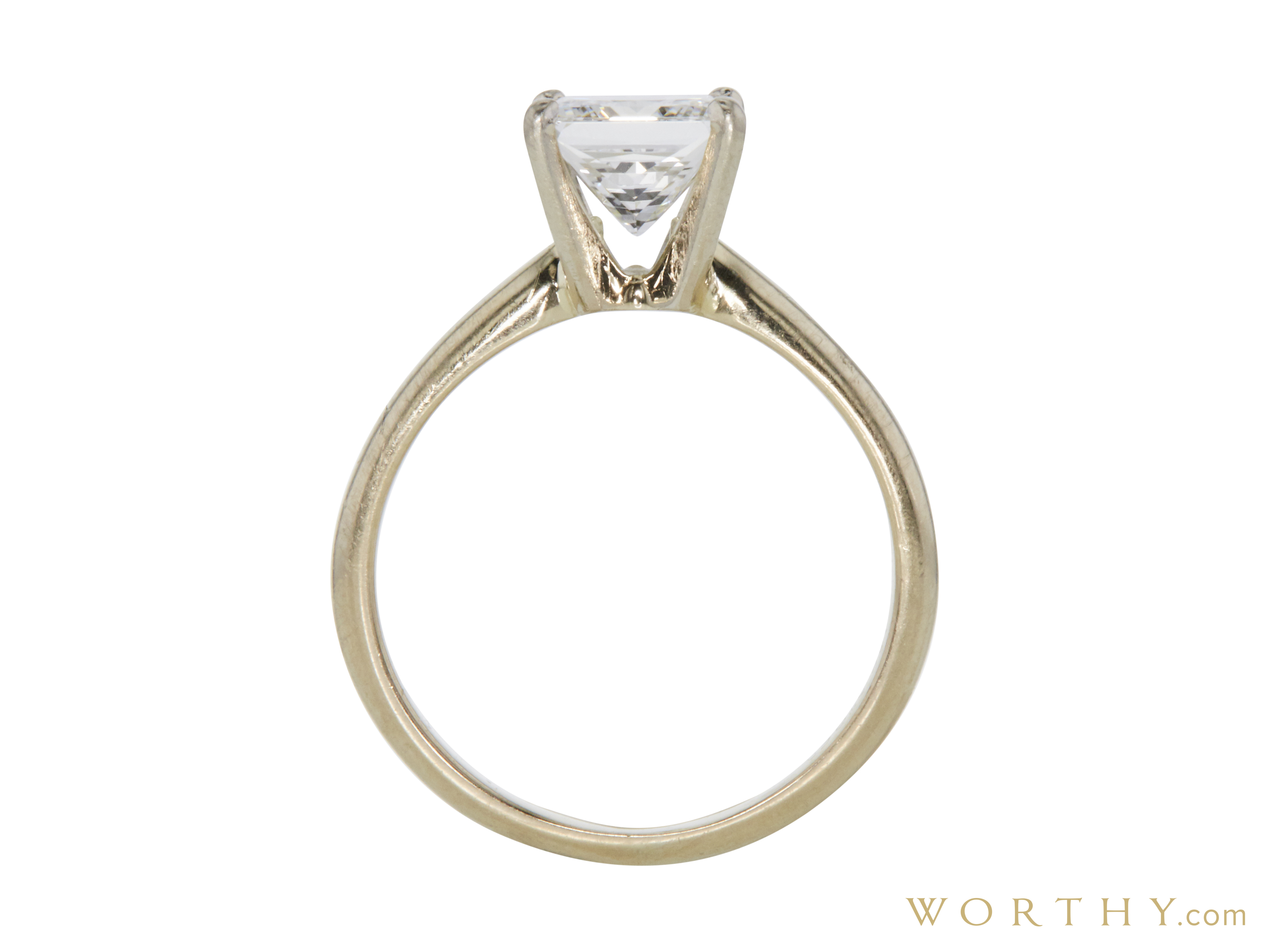 1.21 ct. Princess Cut Solitaire Ring | Sold For $2,503