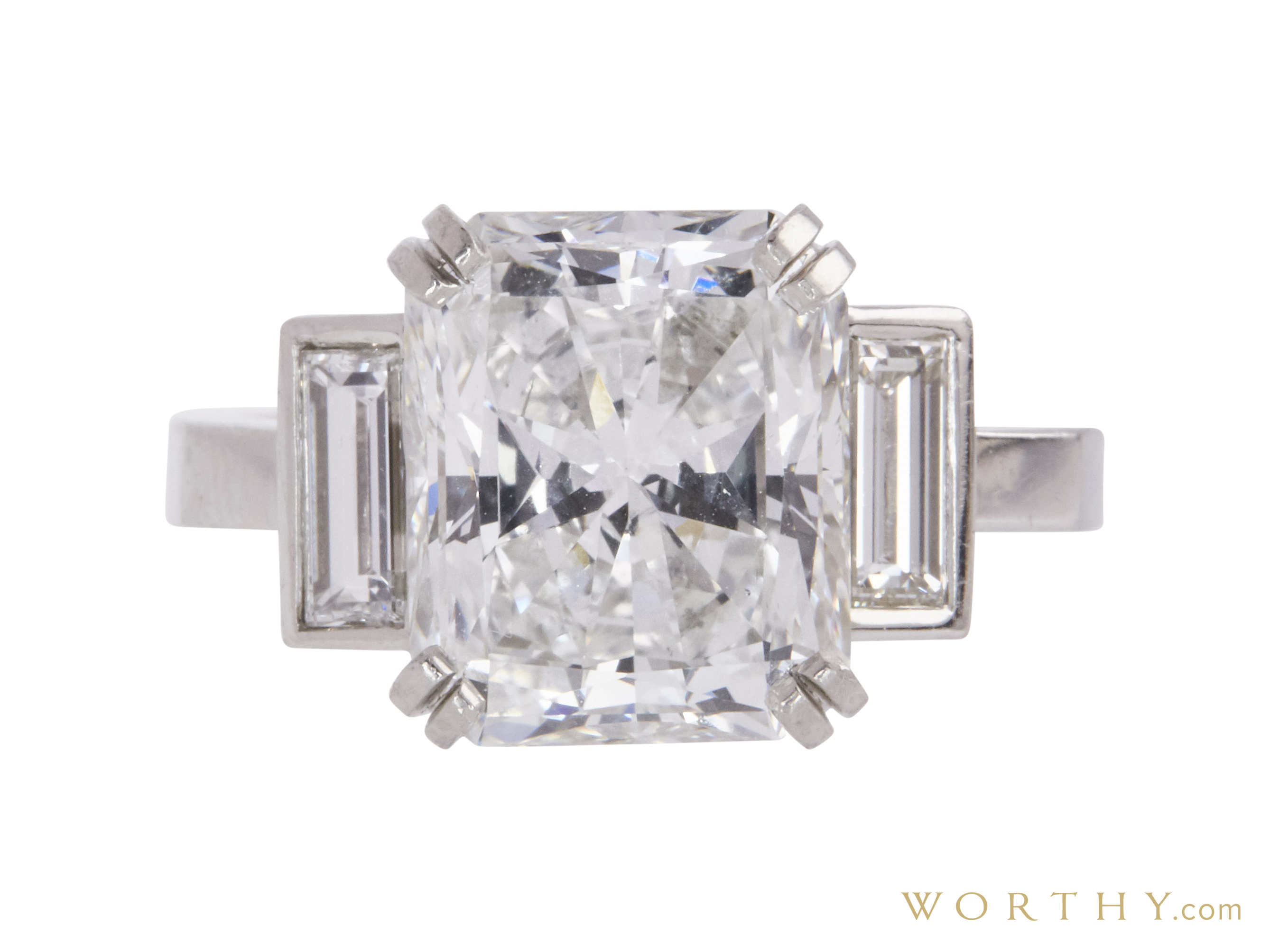 4.45 Ct. Radiant Cut Solitaire Ring