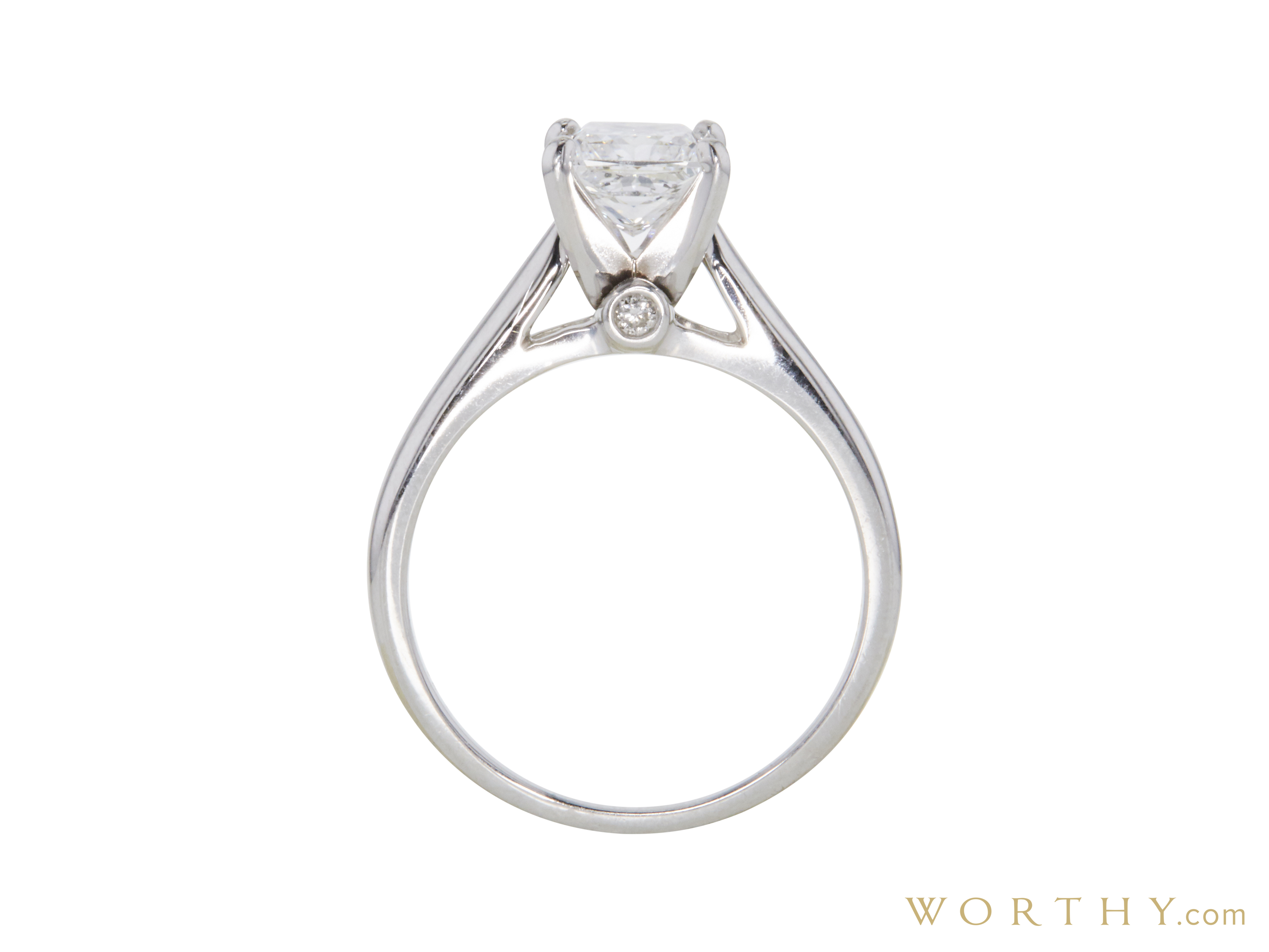 0.71 ct. Radiant Modified Cut Solitaire Tiffany & Co. Ring