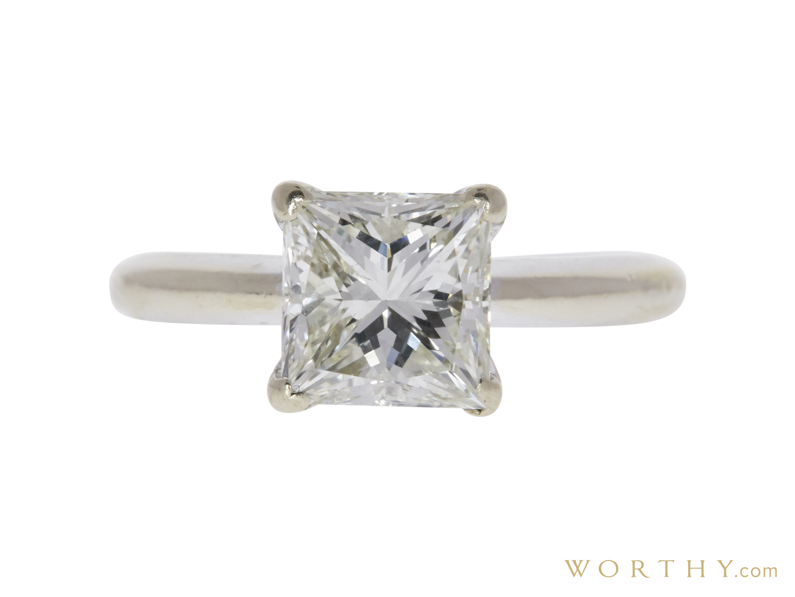 1.99 Ct. Princess Cut Solitaire Ring