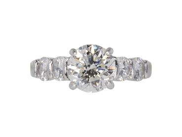 GIA 1.70 CT Round Cut Solitaire Ring, J, SI2
