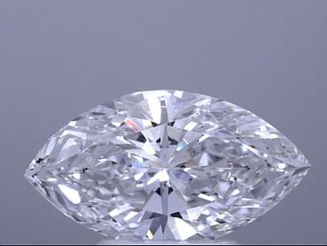 GIA 2.21 CT Marquise Loose Diamond, E, SI1