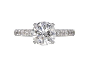 GIA 1.75 CT Round Cut Solitaire Ring, H, VS2