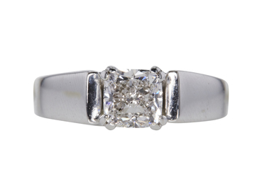 GIA 1.5 CT Cushion Modified Cut Solitaire Ring, G, SI2