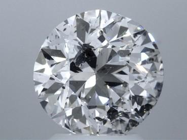 GIA 2.66 CT Round Loose Diamond, F, I2