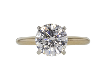 GIA 2.13 CT Round Cut Solitaire Ring, G, I1