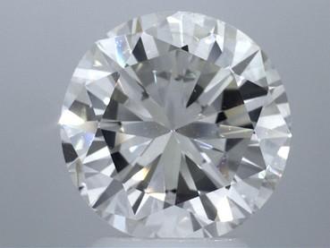 GIA 3.33 CT Round Loose Diamond, I, SI2