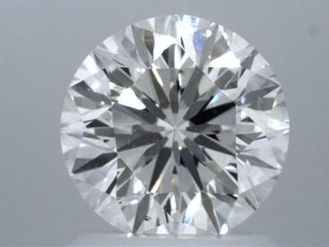GIA 1.48 CT Round Modified Brilliant Loose Diamond, J, SI1