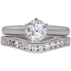 0.78 ct. Round Cut Bridal Set Ring, D, SI2 #3