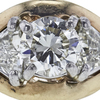 0.98 ct. Round Cut 3 Stone Ring, L-M, SI2 #1