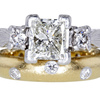 1.52 ct. Princess Cut Bridal Set Ring #3