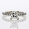 1.29 ct. Princess Cut Solitaire Ring #4