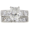 1.85 ct. Radiant Cut Bridal Set Ring, G, SI1 #3