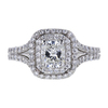 0.83 ct. Cushion Cut Halo Ring, G, VS2 #3