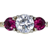 1.50 ct. Round Cut 3 Stone Ring, J, SI2 #3