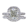 3.01 ct. Cushion Cut Bridal Set Ring, J, SI2 #2