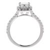 1.3 ct. Emerald Cut Halo Ring, I, SI2 #4