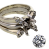 .96 ct. Round Cut Bridal Set Ring #4