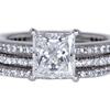 1.54 ct. Princess Cut Bridal Set Ring #3