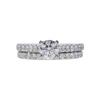 0.90 ct. Round Cut Bridal Set Ring, G, VS2 #3