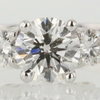 0.95 ct. Round Cut 3 Stone Ring #1