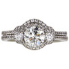 0.9 ct. Round Cut Bridal Set Ring, K, SI2 #3