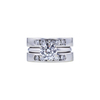 1.50 ct. Round Cut Bridal Set Ring, E, VS2 #3