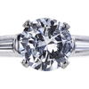 1.12 ct. Round Cut 3 Stone Ring, F, I1 #4