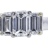 0.73 ct. Emerald Cut 3 Stone Ring, F, VVS1 #4