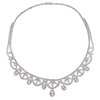 Round Cut Collar Necklace, H-I, SI2-I1 #2