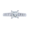 0.95 ct. Princess Cut Ring, H-I, I1 #2