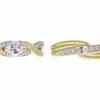 0.91 ct. Round Cut Bridal Set Ring, F, VS2 #3