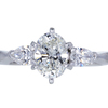 1.08 ct. Oval Cut 3 Stone Ring, H, VS1 #3