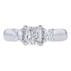 1.00 ct. Radiant Cut 3 Stone Ring, F-G, VS1-VS2 #2