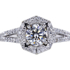 0.74 ct. Round Cut Halo Ring #1