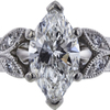 0.99 ct. Marquise Cut Solitaire Ring, G, VS2 #4