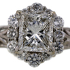 1.56 ct. Princess Cut Bridal Set Ring #2