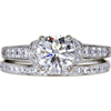 1.11 ct. Round Cut Bridal Set Ring, J, I1 #3