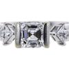 1.04 ct. Asscher Cut 3 Stone Ring #2