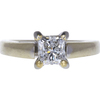 0.99 ct. Princess Cut Solitaire Ring, G, SI2 #2