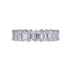 Emerald Cut Eternity Band Ring, F-G, VS1-VS2 #2