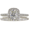 1.03 ct. Cushion Cut Bridal Set Ring, K, VVS1 #2