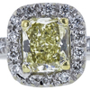 0.67 ct. Radiant Cut Halo Ring, Fancy, VS2 #4