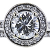 1.01 ct. Round Cut Halo Ring, H, VS1 #4