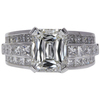 3.22 ct. Radiant Modified Cut Solitaire Ring, I, VVS2 #3
