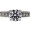 1.22 ct. Round Cut Bridal Set Ring #3