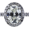 1.00 ct. Oval Cut Halo Ring, I, SI1 #4