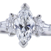 0.70 ct. Marquise Cut 3 Stone Ring, F-G, VS1 #1